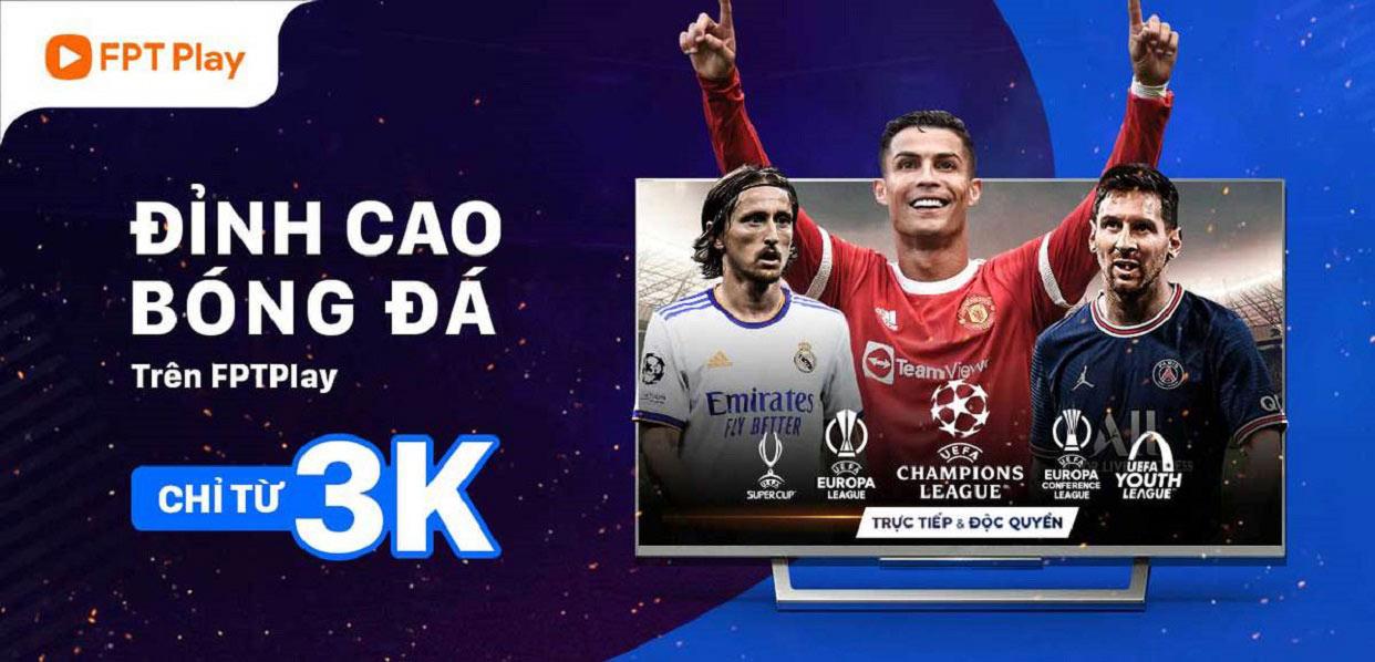 Xem bóng đá trên FPT Play chỉ với 3K cùng ZaloPay