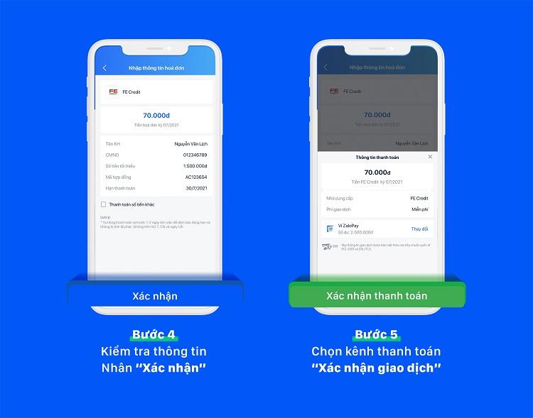 Cách thanh toán vay tiêu dùng qua ZaloPay