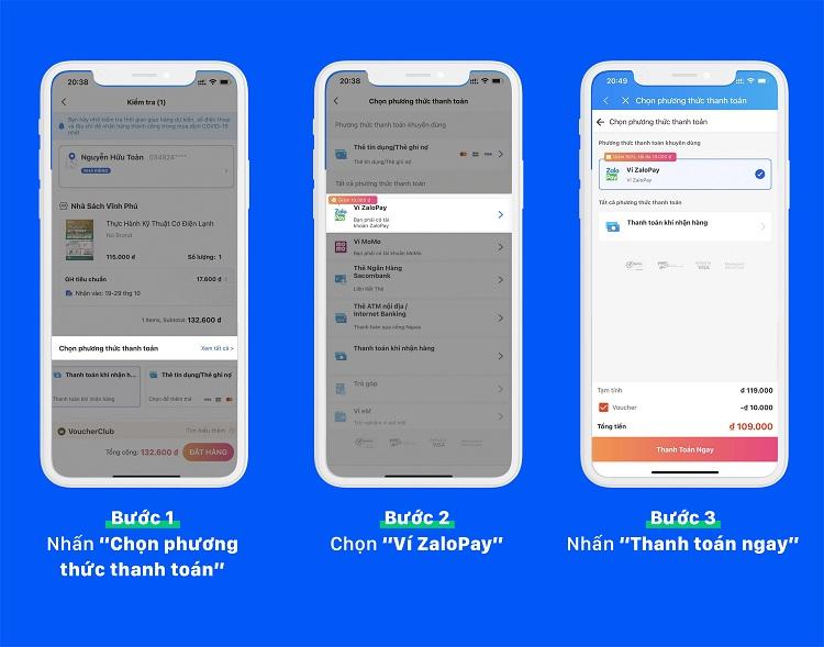 Cách thanh toán bằng ví ZaloPay trên app/website Lazada