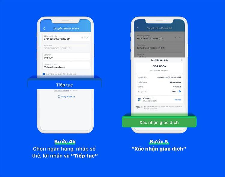 Cách chuyển tiền đến tài khoản/thẻ ngân hàng từ điện thoại này sang điện thoại khác
