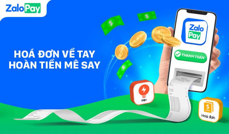 Tính năng thanh toán hóa đơn trực tuyến qua ZaloPay