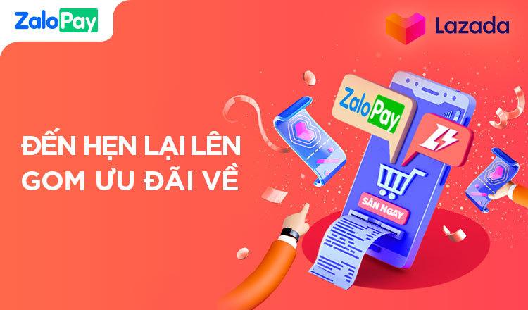 lấy mã giảm giá Lazada khi liên kết và thanh toán qua ZaloPay