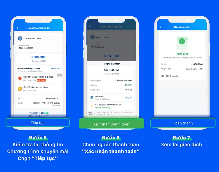 Cách thanh toán tiền nước trực tuyến qua ZaloPay